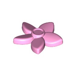Bright Pink Friends Accessories Hair Decoration, Flower with Pointed Petals and Pin - used