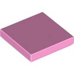 Bright Pink Tile 2 x 2 with Groove - used