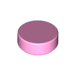 Bright Pink Tile, Round 1 x 1 - new
