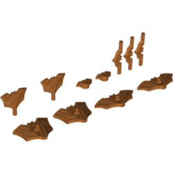 Copper Minifigure, Weapon Batarang, Shield Size with Stud on Front