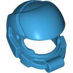 Dark Azure Minifigure, Headgear Helmet Space - used