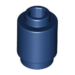 Dark Blue Brick, Round 1 x 1 Open Stud - used