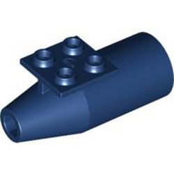 Dark Blue Engine, Smooth Large, 2 x 2 Thin Top Plate