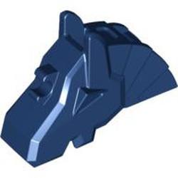 Dark Blue Horse Battle Helmet, Angular