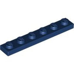 Dark Blue Plate 1 x 6 - used