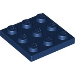 Dark Blue Plate 3 x 3 - new