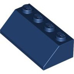 Dark Blue Slope 45 2 x 4 - used