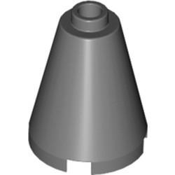 Dark Bluish Gray Cone 2 x 2 x 2 - Open Stud