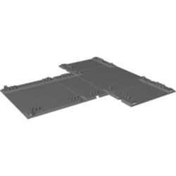 Dark Bluish Gray Container, Racers Fold-Out Race Track Case 34 x 42