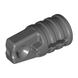 Dark Bluish Gray Hinge Cylinder 1 x 2 Locking with 1 Finger and Axle Hole on Ends with Slots