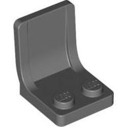 Dark Bluish Gray Minifigure, Utensil Seat (Chair) - new 2 x 2 with Center Sprue Mark