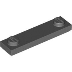 Dark Bluish Gray Plate, Modified 1 x 4 with 2 Studs with Groove