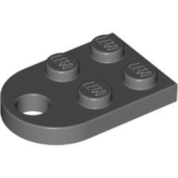 Dark Bluish Gray Plate, Modified 2 x 3 with Hole
