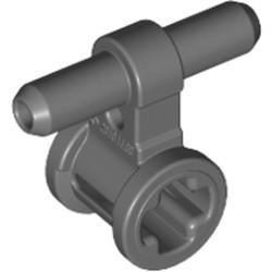 Dark Bluish Gray Pneumatic Hose Connector with Axle Connector