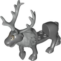 Dark Bluish Gray Reindeer, Frozen with Light Bluish Gray Antlers and Fur around Neck Pattern (Sven) - new