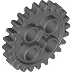 Dark Bluish Gray Technic, Gear 24 Tooth (2nd Version - 1 Axle Hole) - used