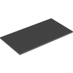 Dark Bluish Gray Tile 8 x 16 with Bottom Tubes on Edges - used