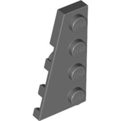 Dark Bluish Gray Wedge, Plate 4 x 2 Left