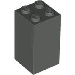 Dark Gray Brick 2 x 2 x 3