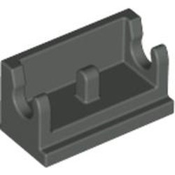 Dark Gray Hinge Brick 1 x 2 Base - used