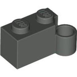 Dark Gray Hinge Brick 1 x 4 Swivel Base - used