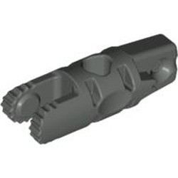 Dark Gray Hinge Cylinder 1 x 3 Locking with 1 Finger and 2 Fingers on Ends, 9 Teeth, without Hole - used