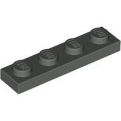 Dark Gray Plate 1 x 4 - used