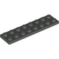 Dark Gray Plate 2 x 8 - used