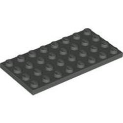 Dark Gray Plate 4 x 8