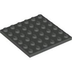 Dark Gray Plate 6 x 6 - new