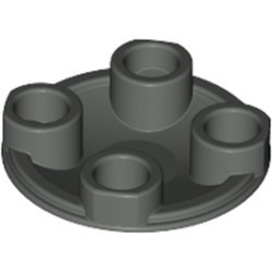 Dark Gray Plate, Round 2 x 2 with Rounded Bottom (Boat Stud)