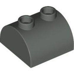 Dark Gray Slope, Curved 2 x 2 x 1 Double with 2 Studs