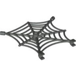 Dark Gray Spider Web with Clips - used