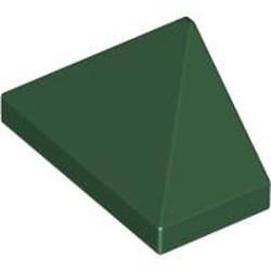 Dark Green Slope 45 2 x 1 Triple with Inside Bar