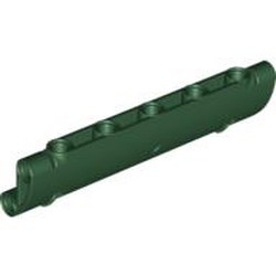 Dark Green Technic, Panel Curved 11 x 3 with 2 Pin Holes through Panel Surface
