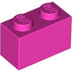 Dark Pink Brick 1 x 2 - new