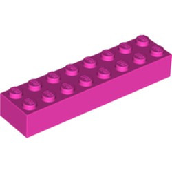 Dark Pink Brick 2 x 8 - used
