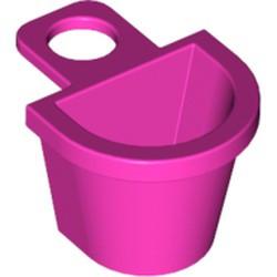 Dark Pink Minifigure Container D-Basket