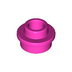 Dark Pink Plate, Round 1 x 1 with Open Stud - new