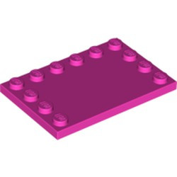 Dark Pink Tile, Modified 4 x 6 with Studs on Edges