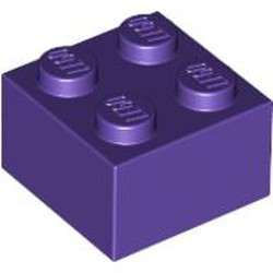 Dark Purple Brick 2 x 2 - new