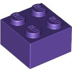 Dark Purple Brick 2 x 2