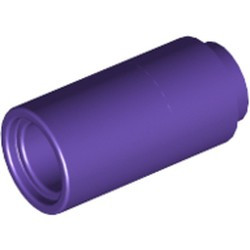 Dark Purple Technic, Pin Connector Round 2L without Slot (Pin Joiner Round) - used
