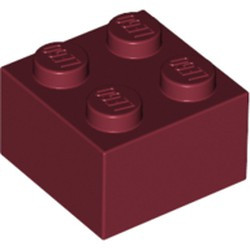 Dark Red Brick 2 x 2 - used