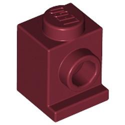 Dark Red Brick, Modified 1 x 1 with Headlight