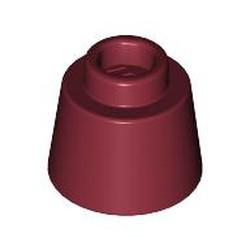 Dark Red Cone 1 1/6 x 1 1/6 x 2/3 (Fez) - new