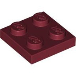 Dark Red Plate 2 x 2 - new
