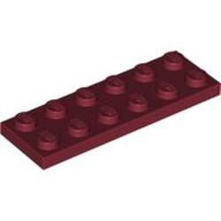 Dark Red Plate 2 x 6