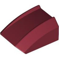 Dark Red Slope, Curved 2 x 2 Lip