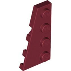Dark Red Wedge, Plate 4 x 2 Left